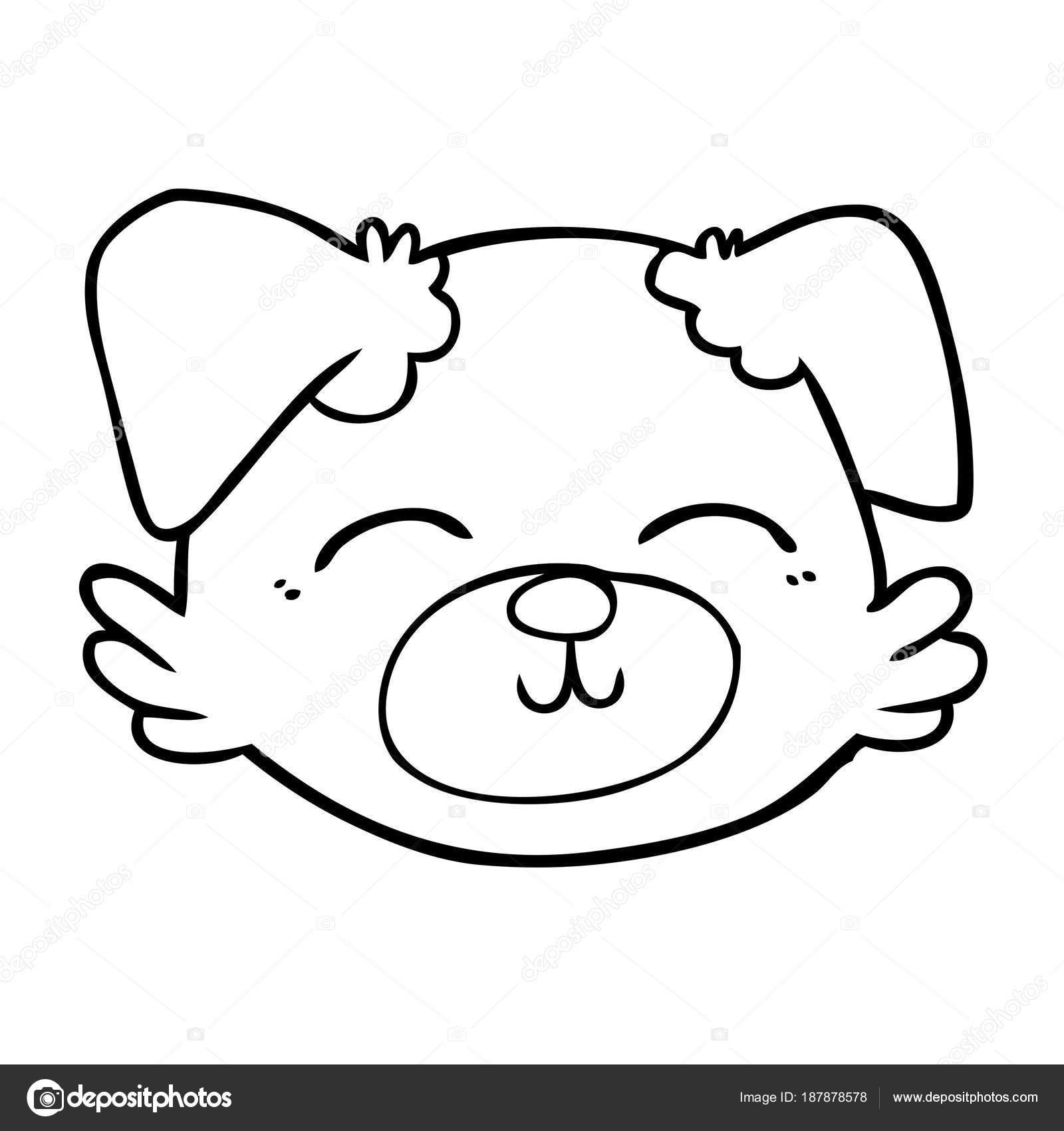 Dog Face Cartoon Drawing