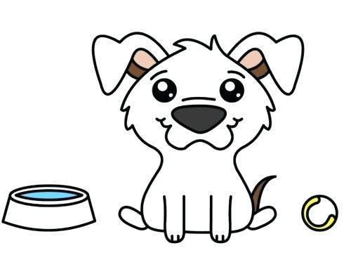 500x380 how to draw puppy dog how to draw a cute puppy dog