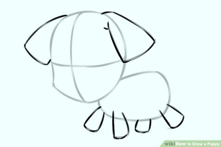 728x485 simple puppy drawing outline dog simple drawing unique puppy dog