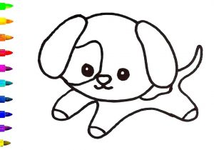 300x210 dog kids drawing draw a dog face dogs face and dog