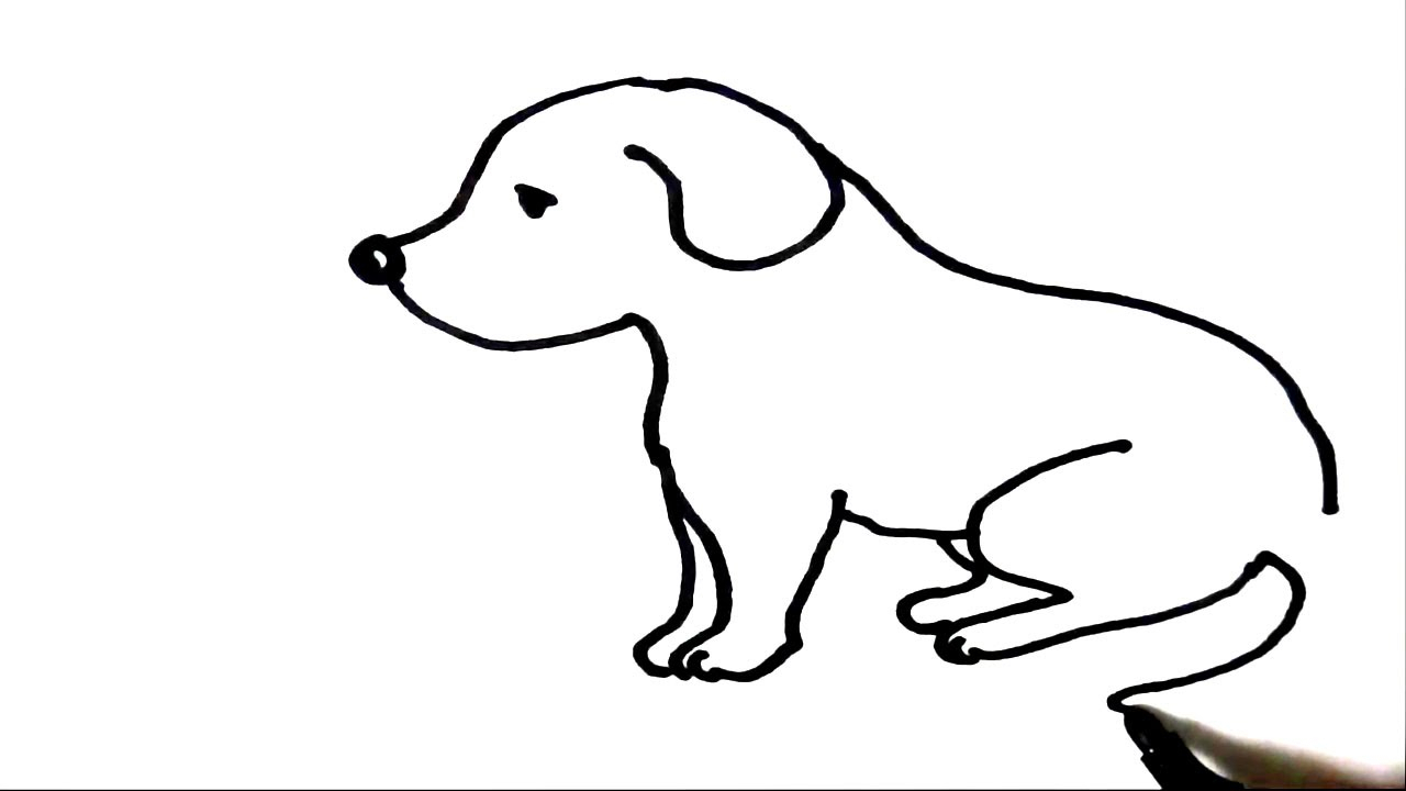 Dog For Kids Drawing | Free download on ClipArtMag