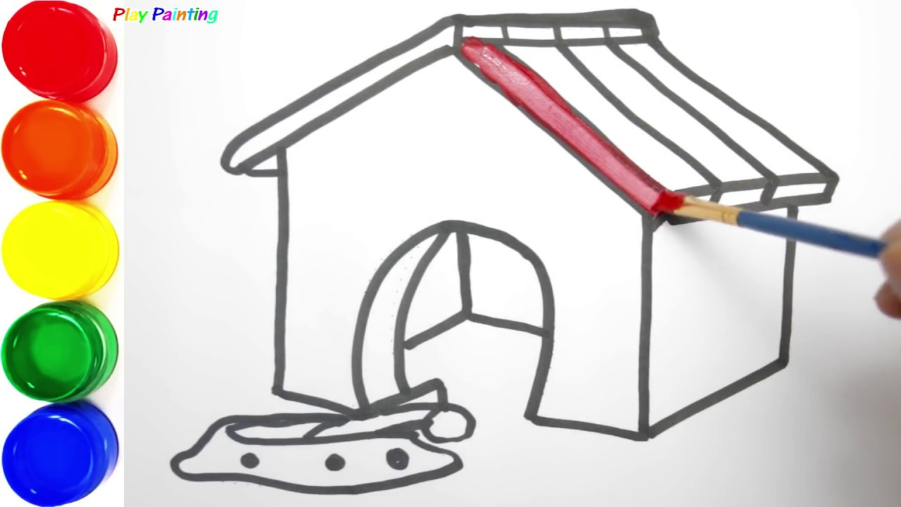 1280x720 Draw Doghouse Painting Simple For Beginners