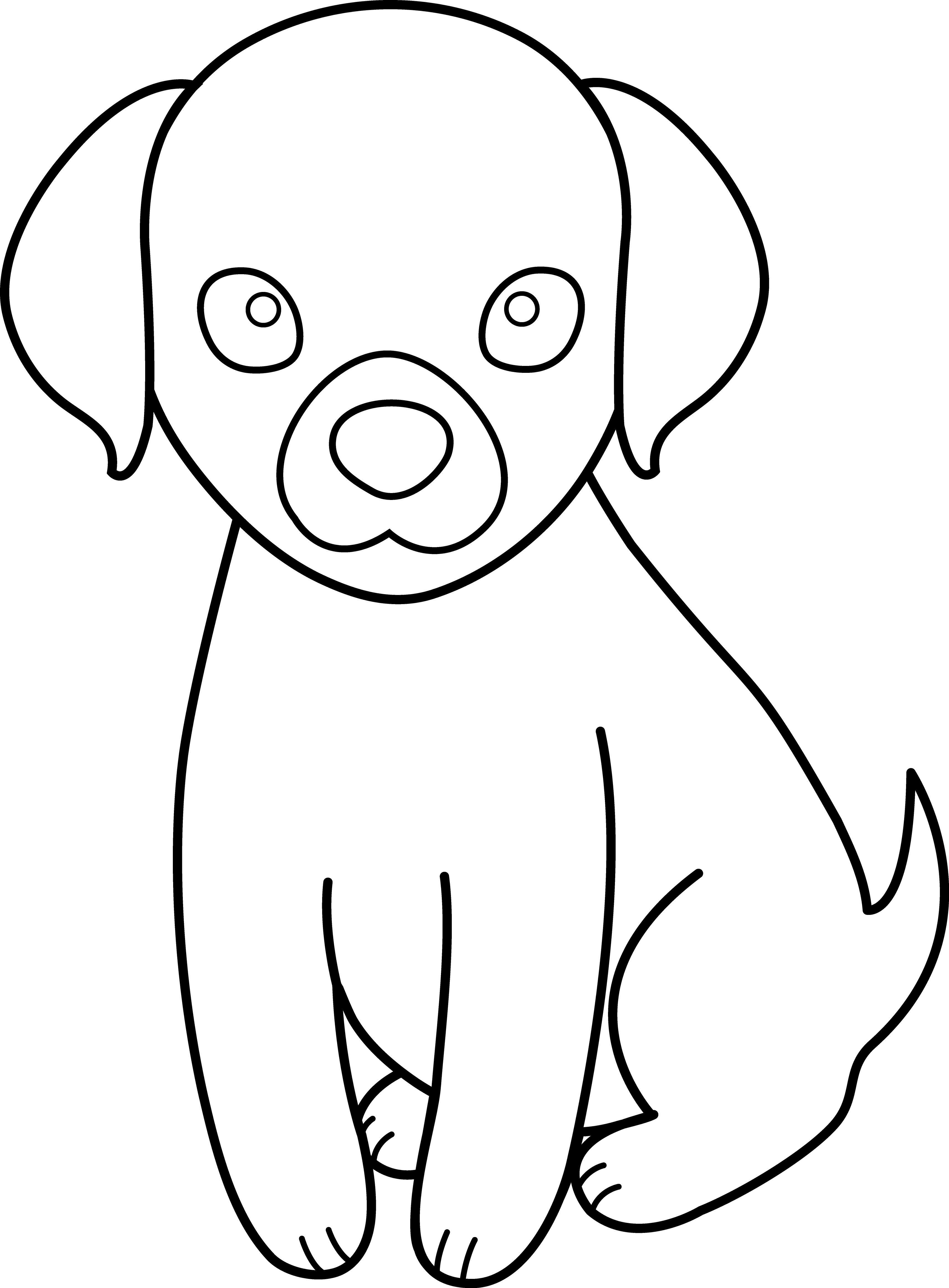 3426x4650 Hd Black And White Puppy Dog House Clipart Uploaded