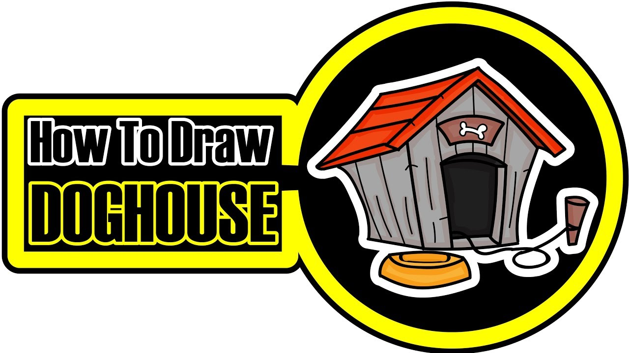 1280x720 How To Draw A Dog House Cartoon Step