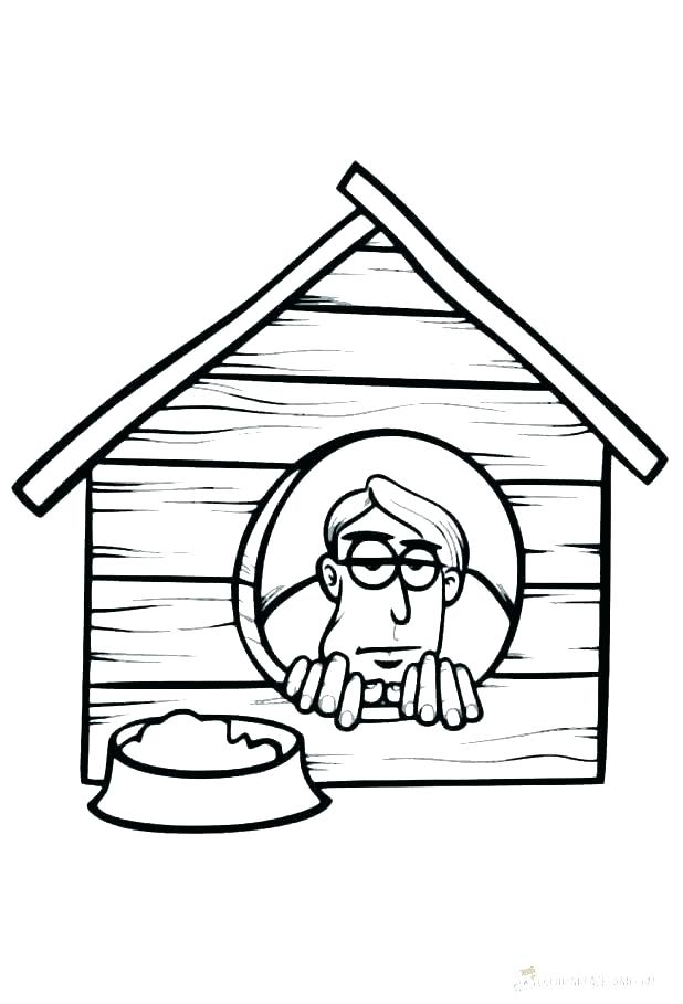 618x909 Free Coloring Pages Dog House