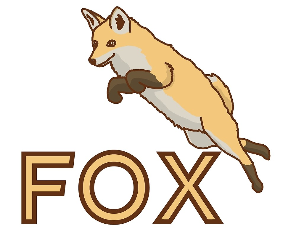 1000x773 fox, jumps, drawing