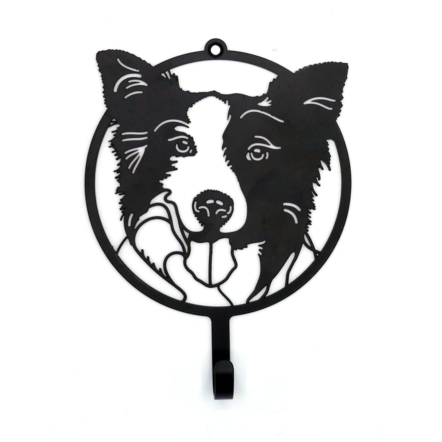 1500x1500 Border Collie Dog Leash Hanger Or Key Hook Made From Carbon Etsy