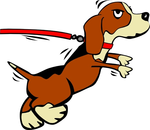 600x520 Dog On Leash Clip Art Free Vector In Open Office Drawing