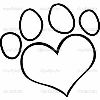 336x336 Dog Paw Drawing Easy A Puppy Free Ajedrezdeen Trenamiento