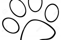 236x157 Dog Paw Vector Drawing Small Print Easy Ajedrezdeen Trenamiento