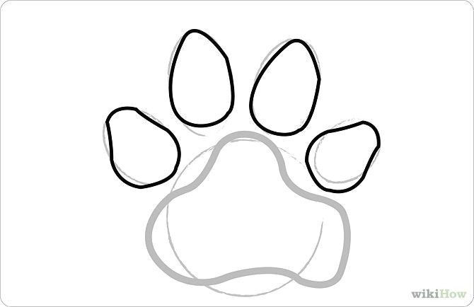 670x434 Drawing Dog With Shapes How To Draw Dog Paw Prints Steps