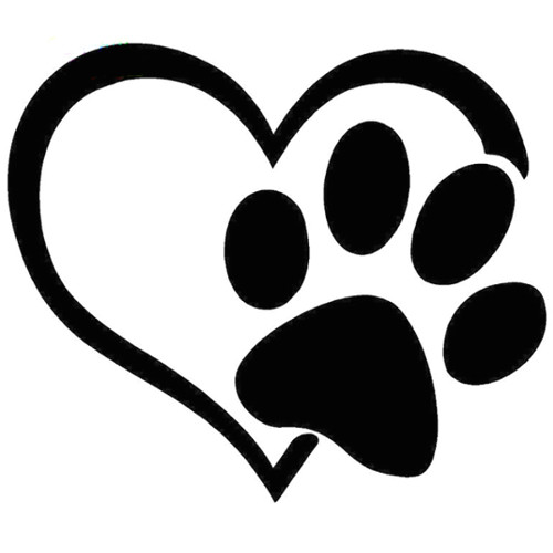 500x500 Drawing Dogs Paws Heart With Paw Print Highjacked Tattoos Dog