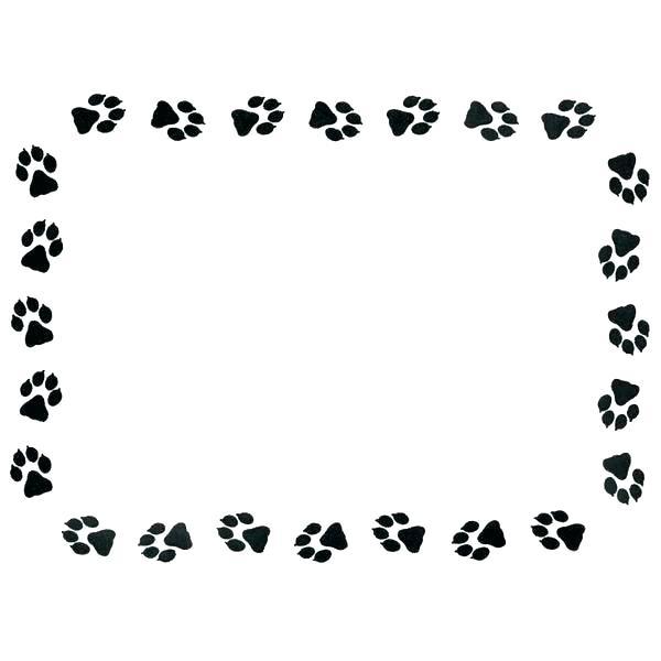 600x600 Free Printable Paw Prints Bear Clip Art Dog Cat Print Drawing