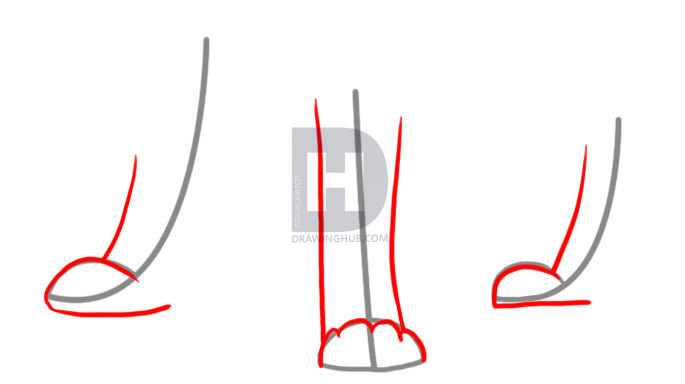 685x384 How To Draw Dog Paws, Step