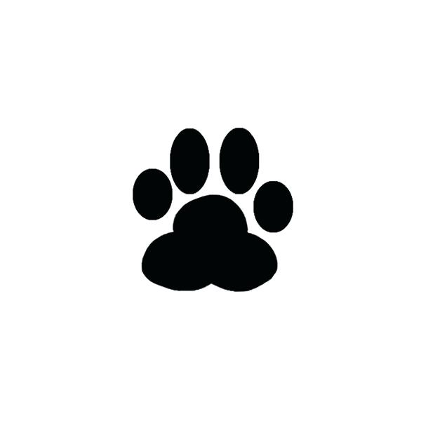 600x600 Dog Paw Print Silhouette Safe Ink For Prints Hand Drawing Amalafood