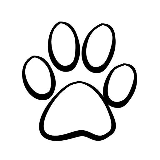 512x512 Dog Paw Print Line Art Dog Cat Clip Art Pet Graphics Dog