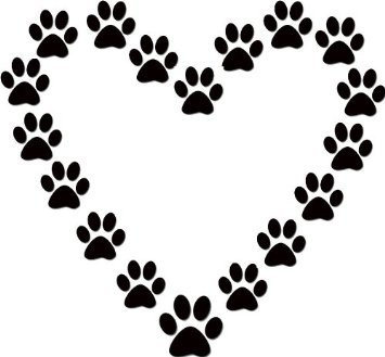 355x329 Lines Of Pet Paws Clip Art Ideas And Designs