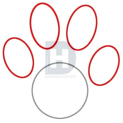 398x398 how to draw a paw draw a paw print draw dog paw print