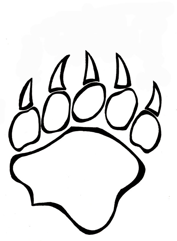 600x816 Huge Collection Of 'bear Paw Print Drawing' Download More Than