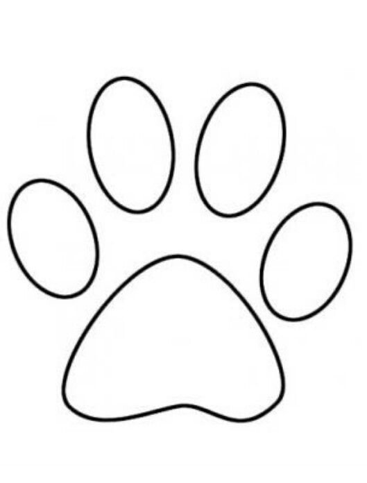 529x696 Paw Print Games Dog Paw Drawing, Bunny Paws, Dog Outline