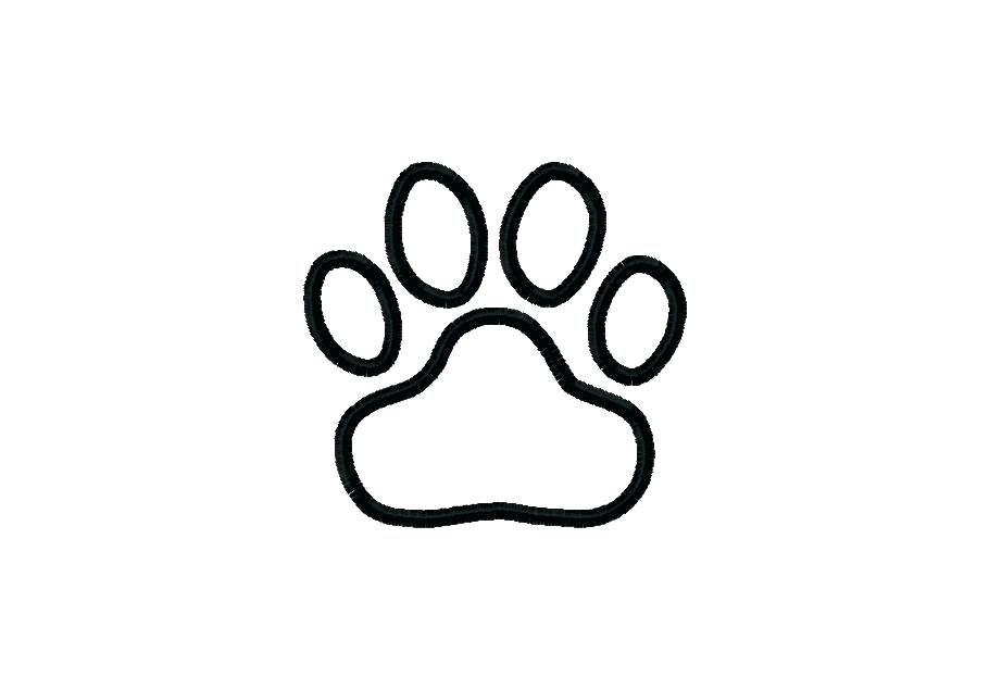 photo relating to Dog Paw Print Stencil Printable Free titled Canine Paw Print Drawing Cost-free down load excellent Canine Paw Print