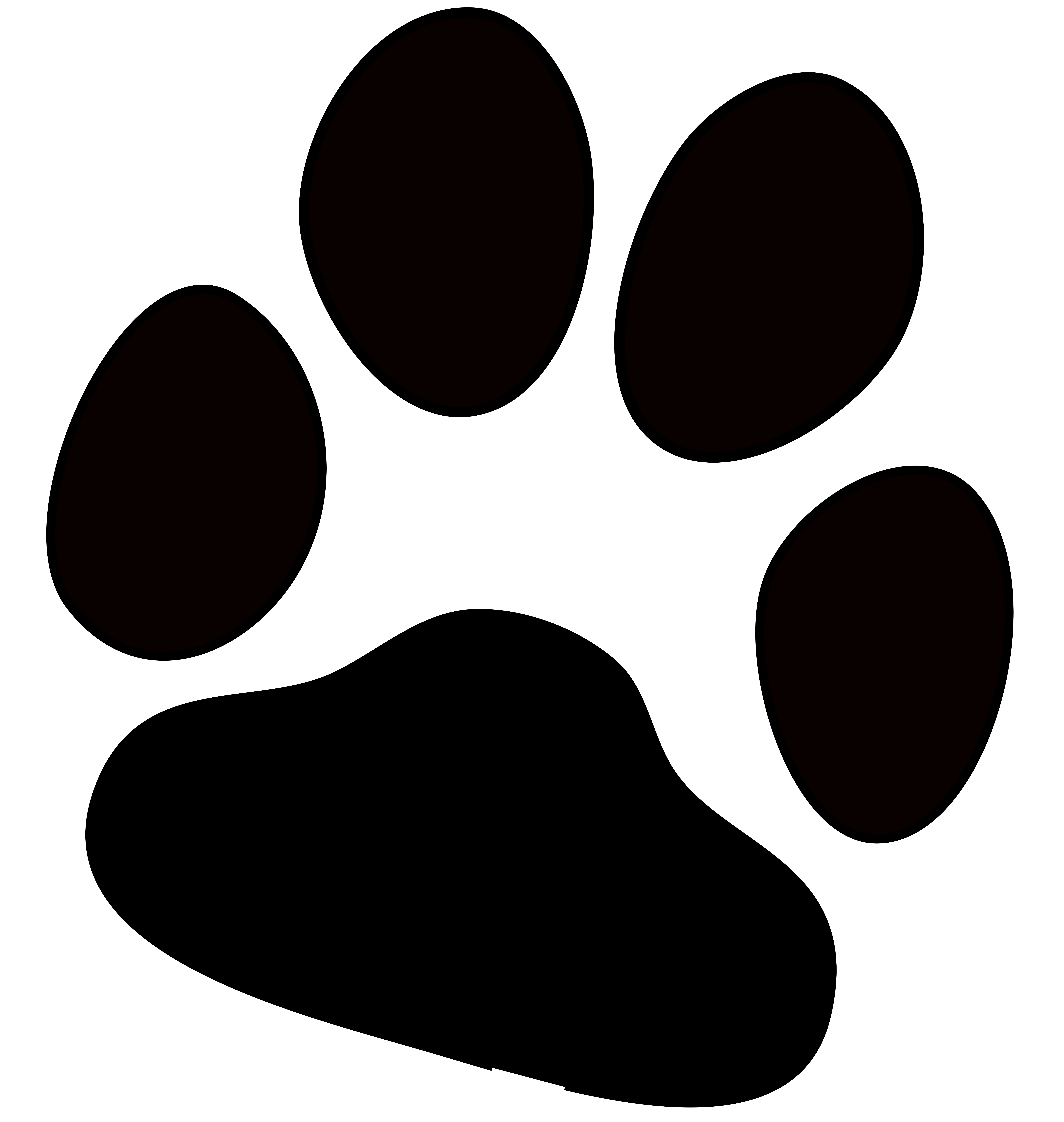 7115x7500 Collection Of Free Dog Transparent Paw Print Download On Ui Ex