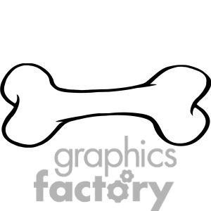 300x300 Dog Bone Border Clipart