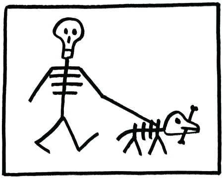 450x362 Skeleton Dog Painting A On Dogs Dark Souls Nataliebaker