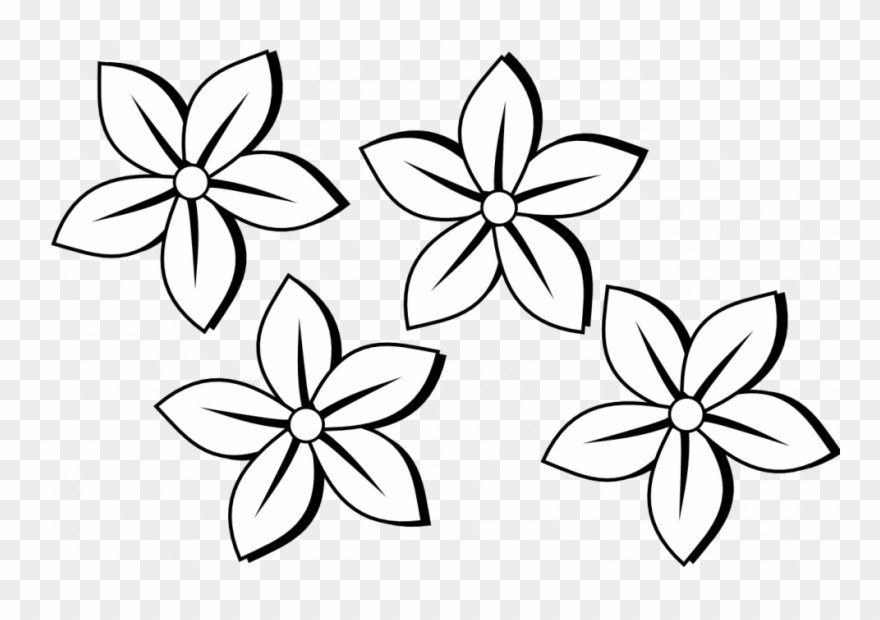 880x620 Coloring Pages Flower Drawing Clipart Clip Art Of Flowers
