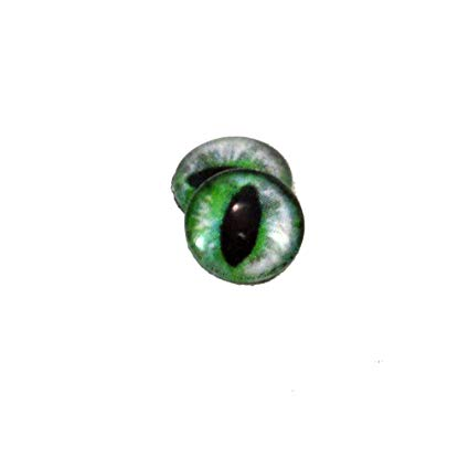 425x425 Cat Glass Eyes In Green Fantasy Dragon For Doll