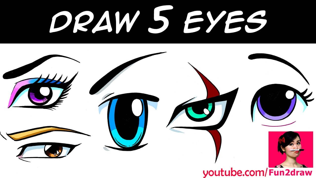 1280x720 How To Draw Eyes Art Drawing Tutorial! Mei Yu