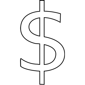 300x300 dollar sign clipart, cliparts of dollar sign free download
