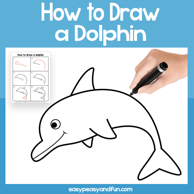 640x640 dolphin guided drawing printable easy peasy and fun membership