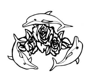 300x286 Dolphin Tattoo Ideas And Dolphin Tattoo Designs