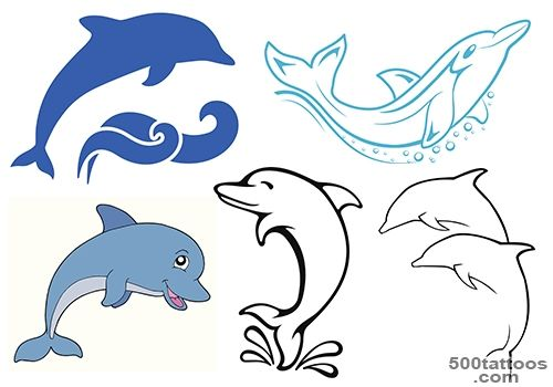500x350 Dolphin Tattoo Designs, Ideas, Meanings, Images