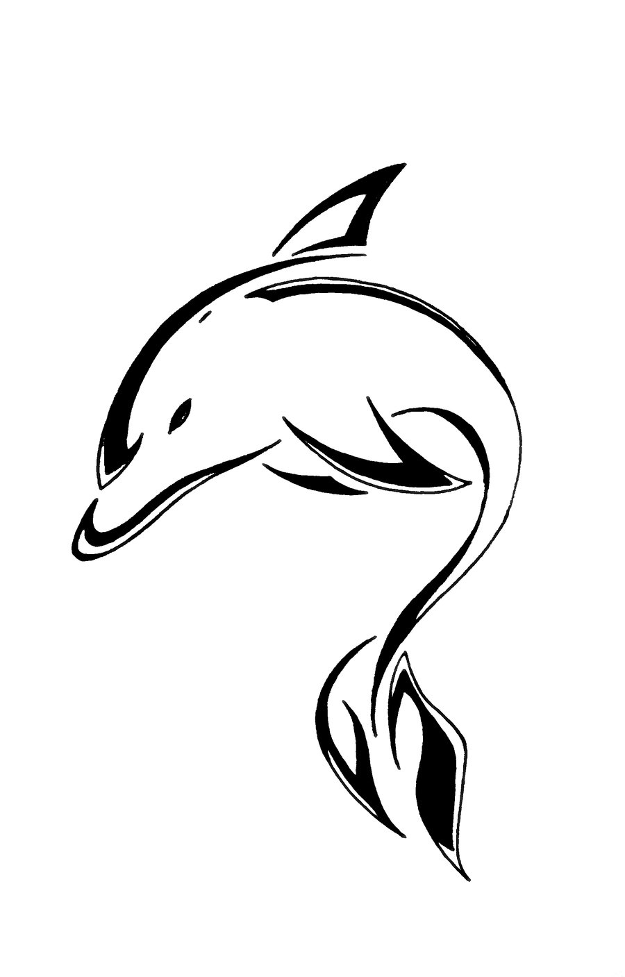 900x1407 Awesome Dolphin Tattoo Designs