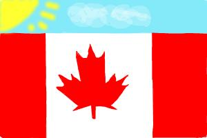 300x200 How To Draw The Canadian Flag