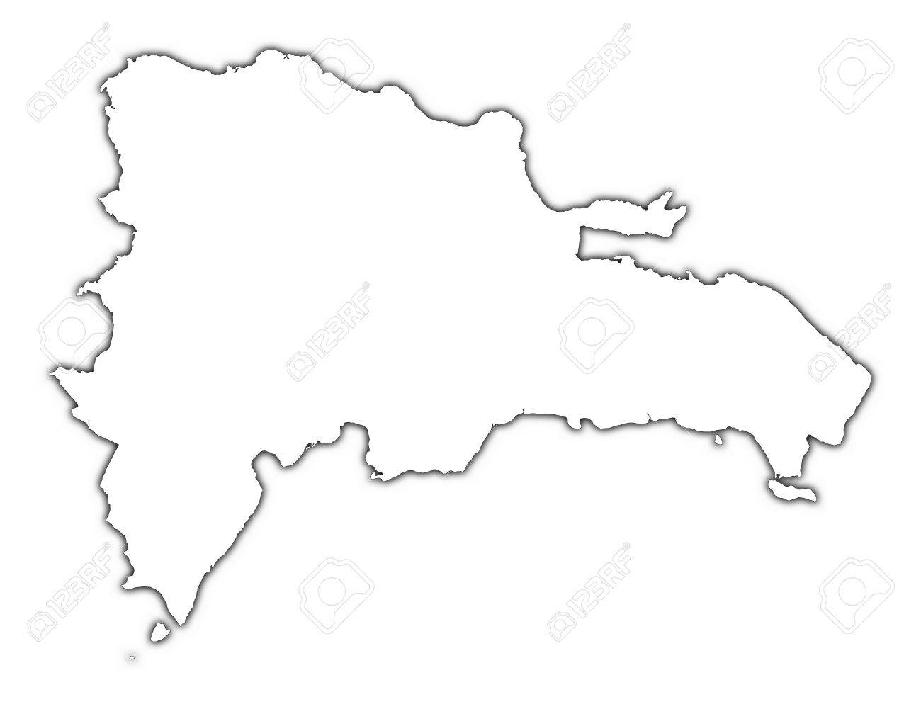 1300x1001 Map Of Dominican Republic Outline Download Them And Print