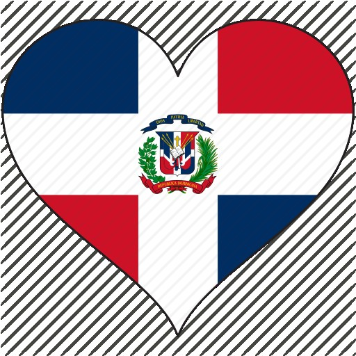512x512 North America Flag Heart Dominican Republic In Pictures