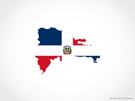 460x345 Vector Map Of Dominican Republic