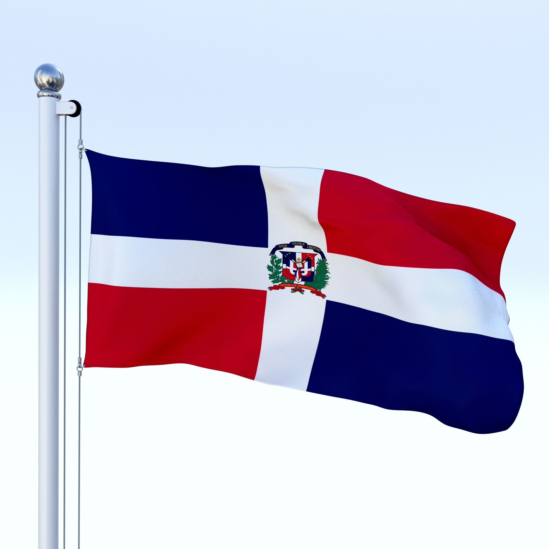 2160x2160 Animated Dominican Republic Flag