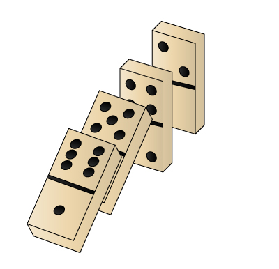 400x386 how to draw dominoes steps