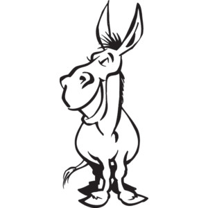 300x300 Donkey Clipart Outline