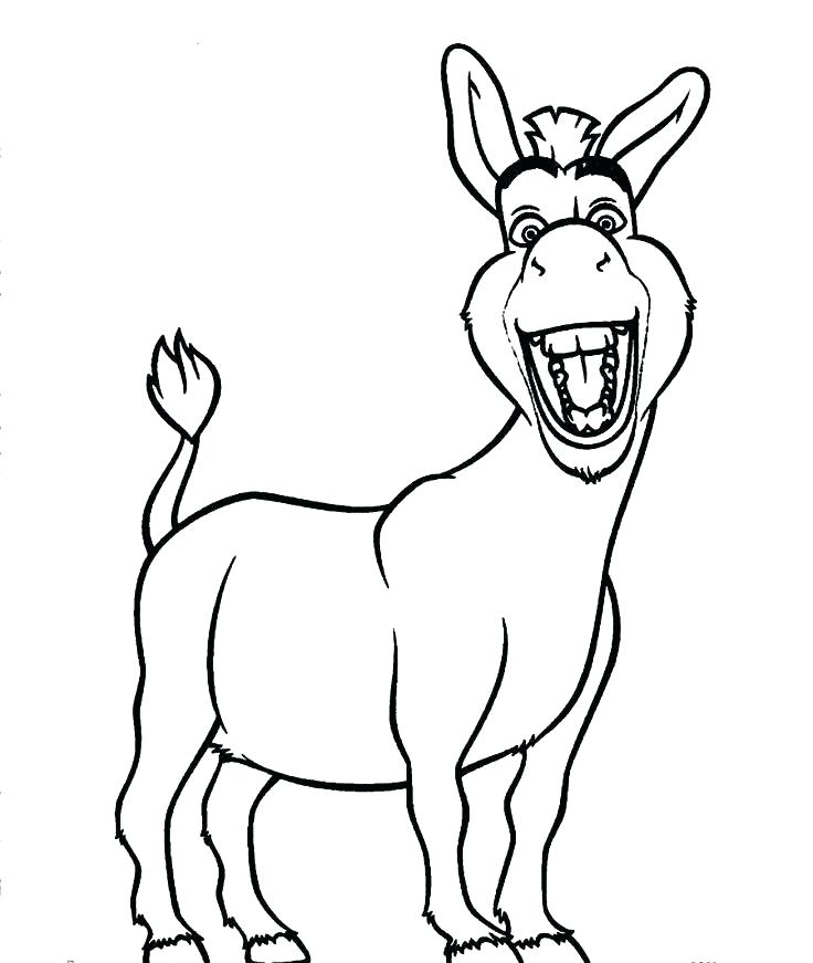 736x871 Donkey Drawing Outline At Getdrawings Com Free For Personal Use