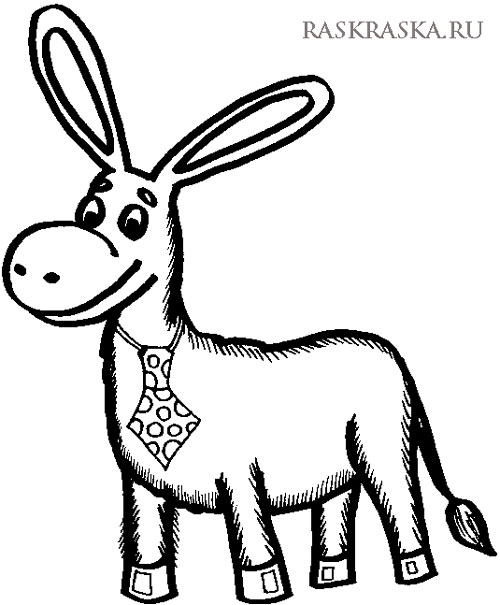 500x605 Donkey Outline Drawing For Print Printable Picture