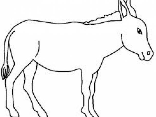 640x480 Drawn Donkey Free Clip Art Stock Illustrations