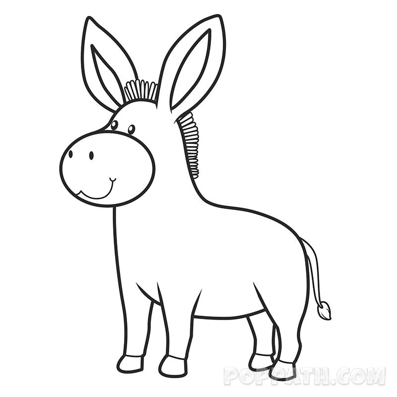Donkey Head Drawing