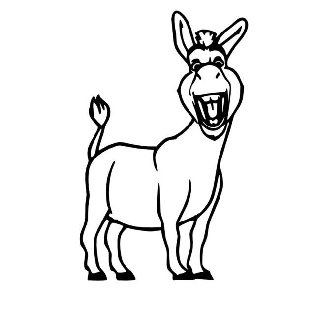 Donkey Line Drawing