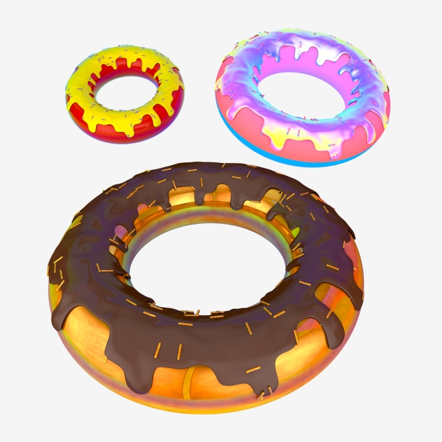 640x640 stereo cartoon donut decorative element drawing,decorative