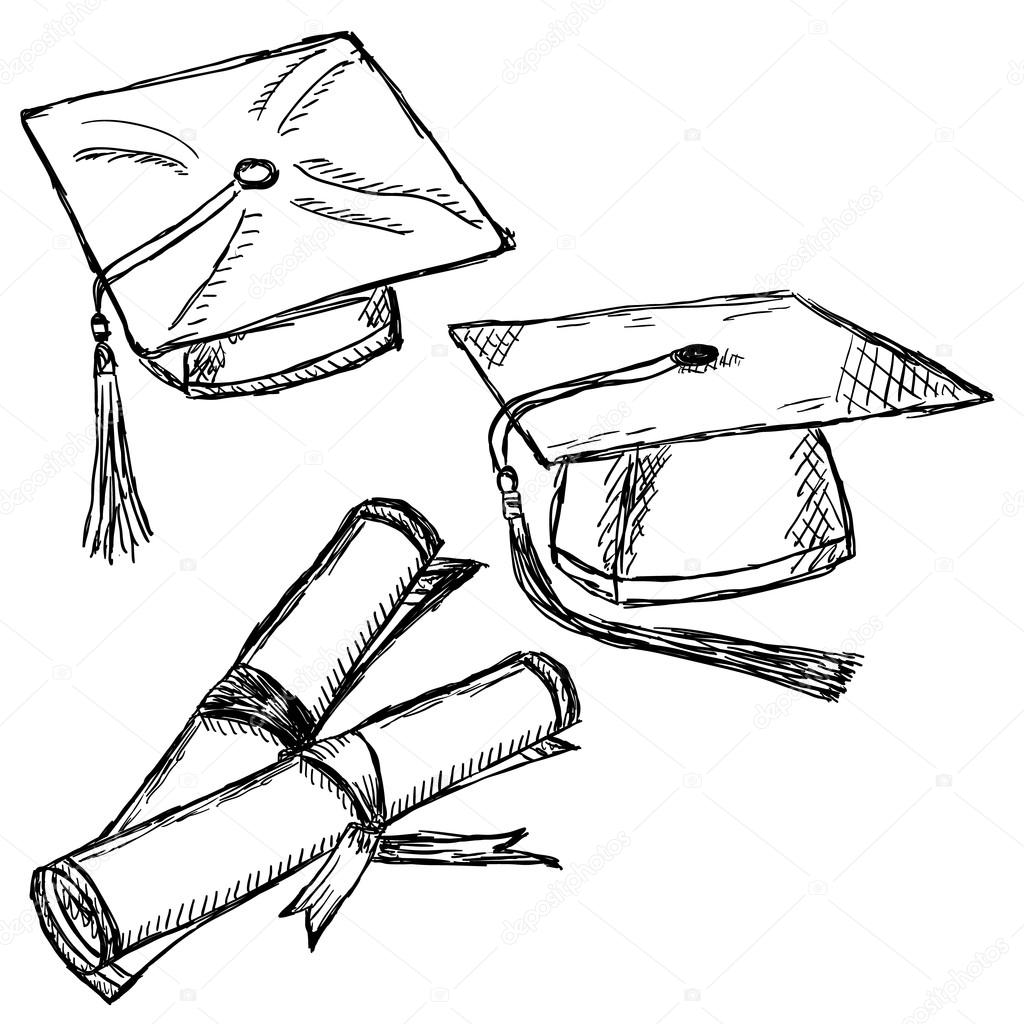 1024x1024 Cap Drawing Doodle For Free Download